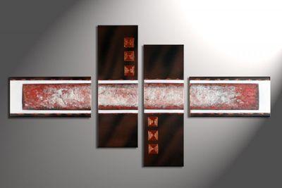 Abstrakt M6 - Leinwandbild 4 teilig 120x70cm Handgemalt