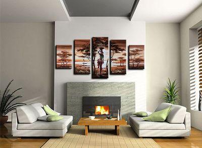 African Dreams M1 - Leinwandbild 5 teilig 150x70cm Handgemalt – Bild 3