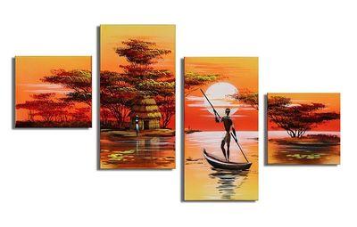 African Dreams M3 - 4 Bilder 80x50 KOMPLETT Handgemalt – Bild 2