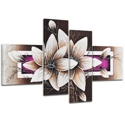 Wandbild Blumen M2 - 100x70cm 4 teilig  P215 – Bild 1