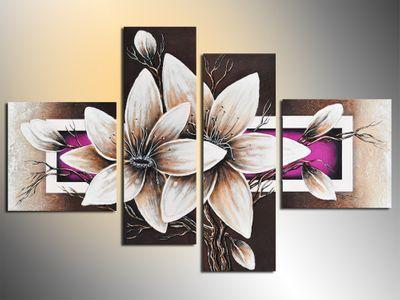 Wandbild Blumen M2 - 100x70cm 4 teilig  P215 – Bild 4