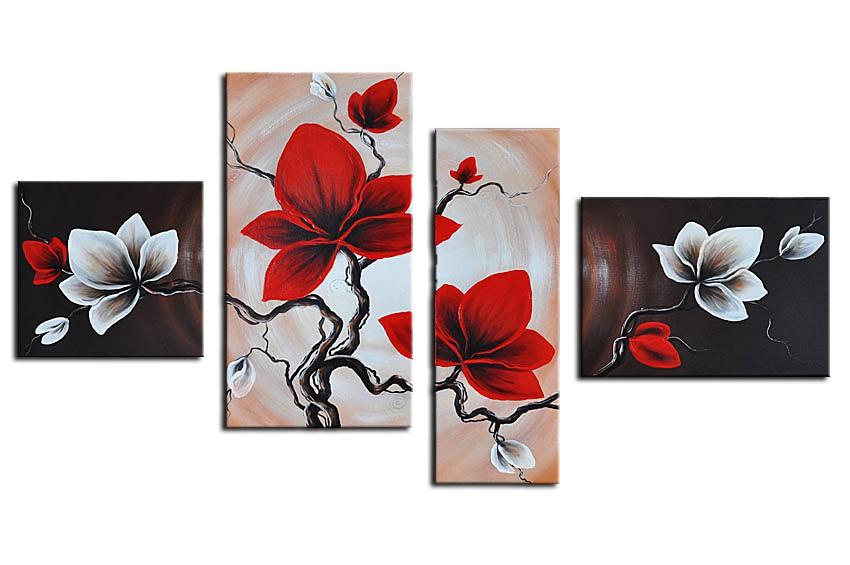 Wandbild Blumen M1 - 120x70cm 4 teilig P306