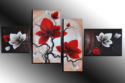 Wandbild Blumen M1 - 120x70cm 4 teilig  P306 – Bild 4