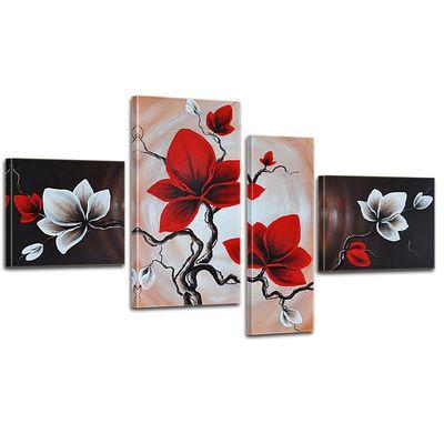 Wandbild Blumen M1 - 120x70cm 4 teilig  P306 – Bild 1