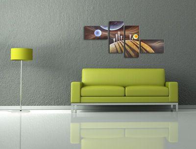 Abstrakt M1 - Leinwandbild 4 teilig 160x80cm Handgemalt – Bild 4