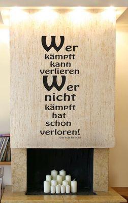 Wandtattoo Brecht 3