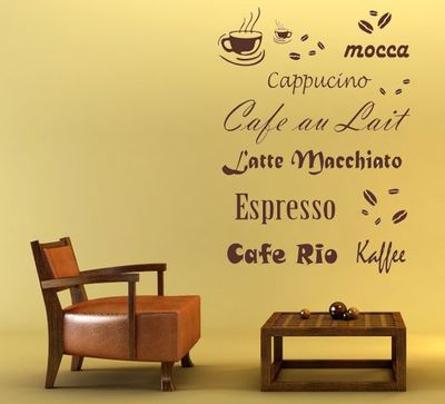 Wandtattoo Kaffee 2 – Bild 1
