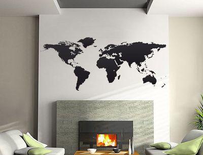 Wandtattoo Weltkarte 1