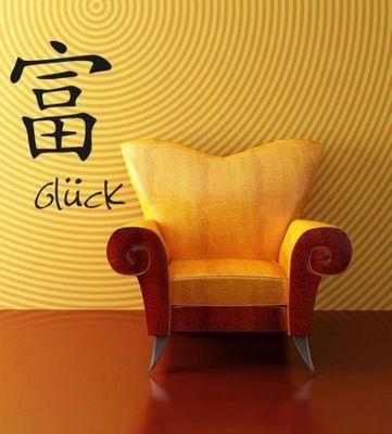 Wandtattoo Chinesische Zeichen für Glück – Bild 1