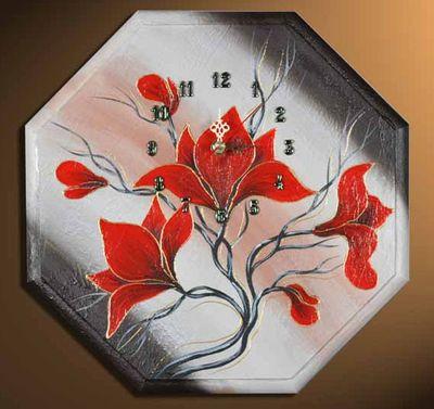 Wanduhr - Blumen M2 – Bild 2