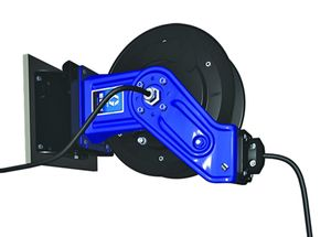 Schwenkbare Wandhalterung für GRACO SD10 Aufroller, damit lässt sich der Aufroller in einem Bereich von 120° schwenken und in 2 Pos. feststellen 001