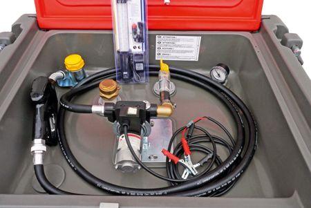 Kingspan TruckMaster 430 Transporttank für Diesel mit ADR Zulassung, Inhalt ca. 409 Liter Nutzvolumen, mit 230V Pumpe, 4m Zapfschlauch, autom. Zapfpistole, abschließbarer Deckel, 4 Verzurrösen, LED Akkuleuchte mit Ladekabel – Bild 2
