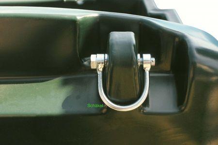 Kingspan TruckMaster 430 Transporttank für Diesel mit ADR Zulassung, Inhalt ca. 409 Liter Nutzvolumen, mit 230V Pumpe, 4m Zapfschlauch, autom. Zapfpistole, abschließbarer Deckel, 4 Verzurrösen, LED Akkuleuchte mit Ladekabel – Bild 3