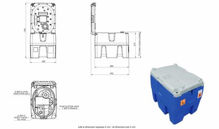 """TechTank 220, Tranporttank für Diesel Inhalt ca. 232 Liter Nutzvolumen, 24V Dieselpumpe, 4m Schlauch und automatische Zapfpistole. Zulassung gem. ADR 1.1.3.1c """"Handwerkerregel"""", Fahrten zum unmittelbaren Verbrauch. – Bild 3"""