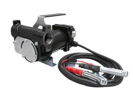 """Adam Pumps 12V Dieselpumpe mit Tragegriff, Schalter, 4m Batteriekabel mit Klemmen und Sicherung, max. 50 l/min. Anschlüsse 1"""""""