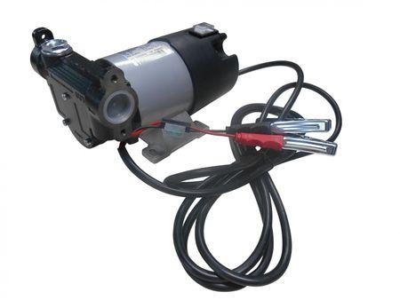 """Adam Pumps 24V Dieselpumpe, Betankungspumpe mit Tragegriff, Schalter, 4m Batteriekabel mit Klemmen und Sicherung, max. 60 l/min. Anschlüsse 1"""" IG – Bild 1"""