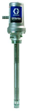 """Pneumatische Ölpumpe GRACO® LD Serie 5:1, 3"""" Luftmotor für hohe Förderleistung, max. Arbeitsdruck 50 bar. Förderleistung max. 25 l/min. interne thermische Druckentlastung, Saugrohr für 200 l Fässer – Bild 1"""