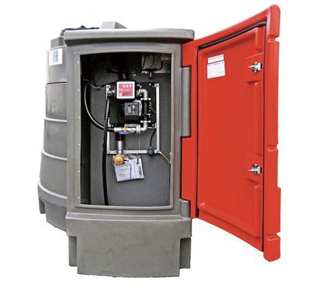 Kingspan FuelMaster® 5000L - Doppelwandige Dieseltankstelle mit integriertem Pumpenset im abschließbarem Schrank. Volumen 5000 Liter, mit SVTI Zulassung für die Schweiz – Bild 2