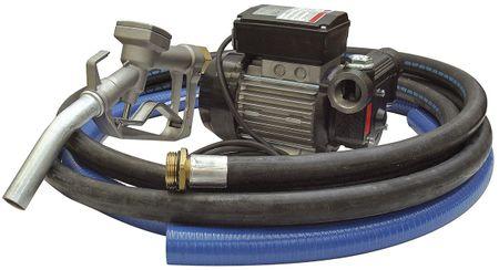 230V Dieselpumpe im Set Lightpump 60: Selbstansaugende Dieselpumpe max. 70l/min., 4m Zapfschlauch, 2m Saugschlauch, manuelle Zapfpistole aus Aluminium