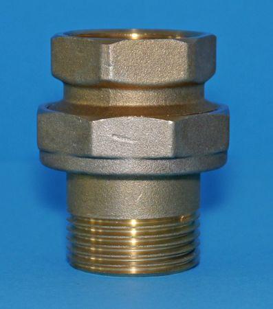 """Radiatorverschraubung gerade Messing,  1"""" IG/AG. 3-teilige Verschraubung, durch O-Ring dichtend – Bild 1"""