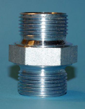 """Stahl Doppelnippel 1"""" AG BSP mit 60° Innenkonus"""