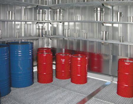 Regal aus verzinkten Gitterrosten, 3 Ebenen 2600x500mm für Kleingebinde