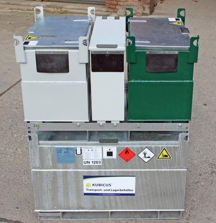 Kubicus 100 Transportrahmen aus feuerverzinktem Stahl passend für 2 Kubicus 100 – Bild 3
