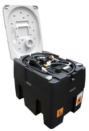 """TechTank 220, mobile Dieseltankstelle Inhalt 232 Liter, mit 12V Dieselpumpe ca. 40l/min., 4m Zapfschlauch, automatisches Zapfventil, abschließbarer Deckel. Zulassung gem. ADR 1.1.3.1c """"Handwerkerregel"""", Fahrten zum unmittelbaren Verbrauch. – Bild 1"""