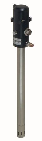 Mato Druckluftfettpresse, pneuMATO 55 pneumatische Fettpresse 1:55 für 10 - 25 kg Fetteimer, Saugrohr 495 mm, ø 40 mm