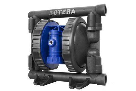 """1"""" Aluminium Doppelmembranpumpe SOTERA SP100-10B-PA-SSS,  Santoprene®-Membranen, Kugeln und Sitze, Anschlüsse 1"""" BSPP – Bild 1"""