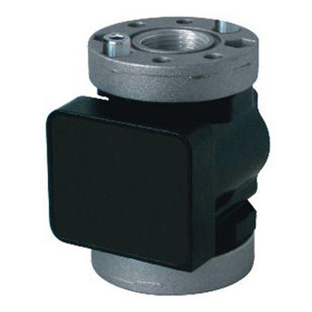 """K600/3-Pulser Ovalrad-Messkammer für Diesel, für Durchflussmengen bis 100l/min. Geeignet für Frostschutzmittel, Diesel und Öle , Anschluss 1""""IG und Rundflansch, Impulsausgang zum Anschluss an externe Geräte, nicht eichfähig"""
