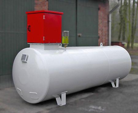 3.500L Doppelwandiger Stahltank für Diesel, DIN 6624/2. abschließbarer Pumpenschrank, 230V Dieselpumpe ca. 60l/min., Zählwerk, automatisches Zapfventil – Bild 1