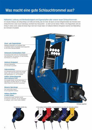 """Automatischer Schlauchaufroller GRACO® Serie XD 30 Hochleistungs Schlauchtrommel für extreme Belastungen. Geeignet für 15m 3/4"""" bzw. 9m 1"""" Schlauch Lieferung ohne Schlauch – Bild 3"""