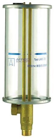 """Afriso LAS 72 Leckanzeige Sichtgerät  LAS für Leckflüssigkeit.  Nutzinhalt 2,1 Liter, für Tanks mit einem Überwachungsraum  von max. 72 Litern. Anschluss 1"""" AG, Deckel und Boden aus Edelstahl, Plexglasklarsicht-Zylinder"""