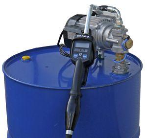 230V Zahnradpumpe Modell EZP200 mit Saugrohr für 200 Liter Fass mit Handdurchlaufzähler LDP5-R mit programmierbarer Mengenvorwahl, 4m Ölschlauch DN12 001