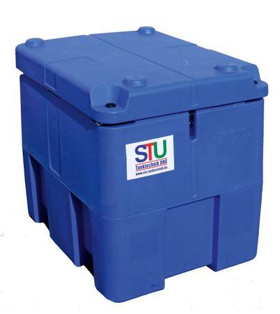 Transporttank für AdBlue® (AUS32) mit 12V Membran Pumpe Inhalt 220 Liter Nutzvolumen, automatische Zapfpistole, 4m Schlauch, Klappdeckel – Bild 2
