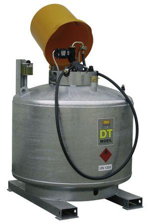DT Mobil 980l, doppelwandig, verzinkt, mit abschließbarer Pumpenhaube. Inhalt 980 Liter Maße: 121x121x181 cm. Ausführung mit 12V Pumpe, 4, Schlauch, autom. Zapfpistole. Zum Transport  zugelassen nach ADR 1.1.3.6.3