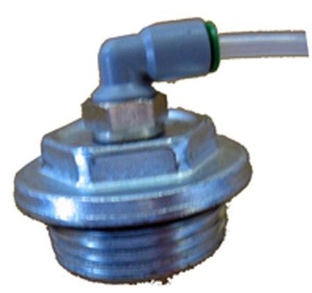 "Verschraubung 1"" mit Anschluss für Rücklaufschlauch 4mm. inkl. 2m Schlauch 4x2mm. Heberschutz für Adam Pumps Modelle PA1-70 u.a."