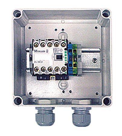 Schützsteuerung, Relais-Set 230V + 400V zur elektrischen Steuerung von Pumpen mit 230V, oder 400V Motor