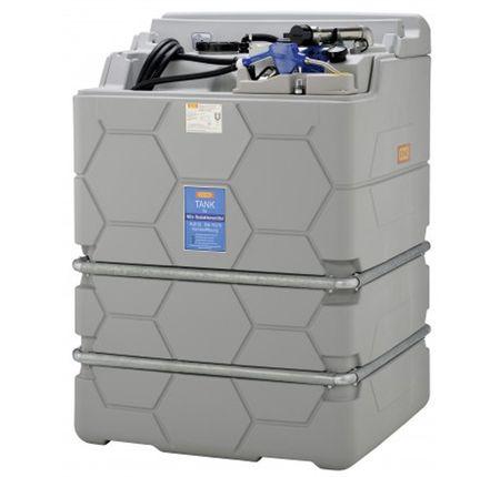 """CEMO CUBE-AdBlue®-Indoor Basic 1500 l, mit integr. Auffangwanne, Leckanzeige, Füllanschluss 2"""" Trockenkupplung, Überfüllsicherung, Füllstandsanzeige, 230V Pumpe, 6m Zapfschlauch, autom. Zapfventil, """"steckerfertig"""" montiert – Bild 1"""
