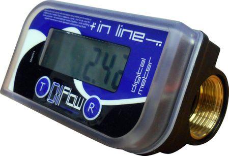 """Adam Pumps Literzähler für Heizöl und Diesel. Kunststoffgehäuse mit LCD Anzeige, Durchflussbereich 10-150 l/min., Anschlüsse 1"""" IG  – Bild 1"""