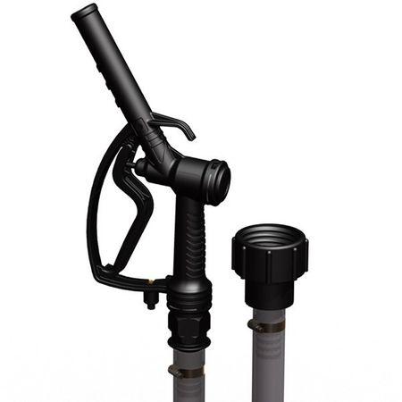 IBC Abfüllset mit S60x6 Gewindeadapter, 3m DN25 PVC Schlauch, manuelle Zapfventil, Zapfpistole aus PP mit Viton®-Dichtungen – Bild 2