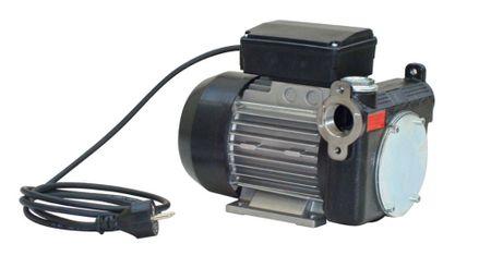 """PA2-80 trocken-selbstansaugende Dieselpumpe 230V max. 80 l/min. Bypassventil, Edelstahl Saugsieb, Anschlüsse 1"""" IG sowie 1"""" Ovalflansch druckseitig, Netzschalter, 2m Kabel mit Schukostecker. – Bild 1"""