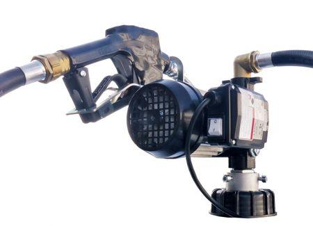 """Dieselmeister 2: Trocken selbstansaugende Dieselpumpe 230V max. 60 l/min., Fasspumpenset mit  2"""" Fassadapter, Heberschutz, 4m Zapfschlauch, 1,5m Saugschlauch, autom Zapfpistole mit EN Bauartzulassung"""