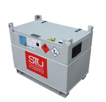 KUBICUS® Einwandiger Diesel - Transportbehälter aus Stahl mit Zulassung als Verpackung, ohne wiederkehrende Prüfung.  Volumen 250L Leergewicht 115 kg  – Bild 1
