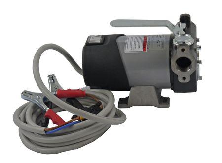 Adam Pumps 24V HighFlow Dieselpumpe, Betankungspumpe mit Tragegriff, max. 85 l/min., Schalter, 4m Batteriekabel mit Klemmen und Sicherung – Bild 2