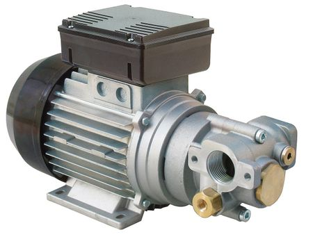 Piusi Viscomat 200/2 - 400V Zahnradpumpe für Hydraulik- und Motorenöle, Förderleistung ca. 9 l/min, Arbeitsdruck max 12 bar, selbstansaugend, BypassVentil