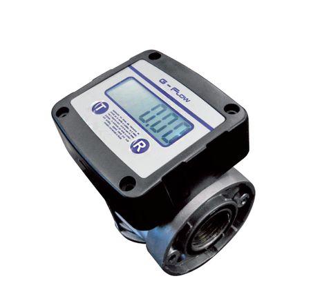 """G-Flow Dieselzähler Ölzähler Ovalradzählwerk mit LCD Anzeige, 10-120 l/min, ±0,5% Genauigkeit (nicht eichfähig), Anschlüsse: 1"""" BSP IG – Bild 1"""