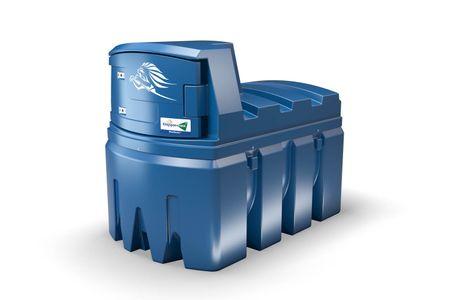 Kingspan BlueMaster Standard 2500L doppelwandige Tankanlage für AdBlue®, mit 230V Tauchpumpe, Zählwerk, Schlauchaufroller mit 6m Schlauch, autom. Zapfpistole, Armaturenschrank beleuchtet, Heizung, Belüftung – Bild 1