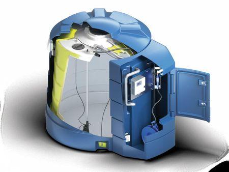 5000l Kingspan BlueMaster PRO, DiBt-Zugelassen, doppelwandige LKW Tankstelle Tankanlage für AdBlue®, Inhalt 5000l, mit Titan Access Management System, Vollausstattung mit Pumpe, Schlauchaufroller, Heizung, Tankautomat – Bild 3